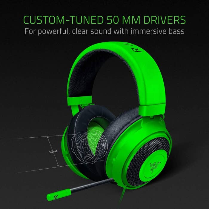 "A sleek headset, boasting high sound quality and ""immersive bass"""