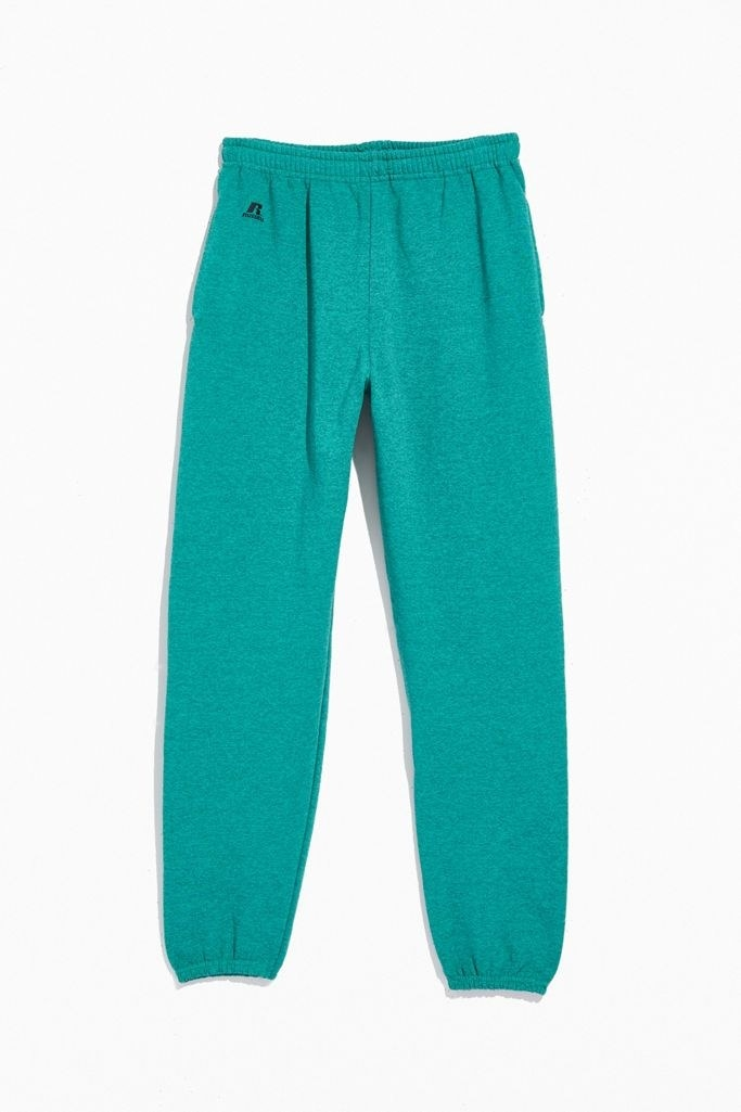 teal pull on sweatpants
