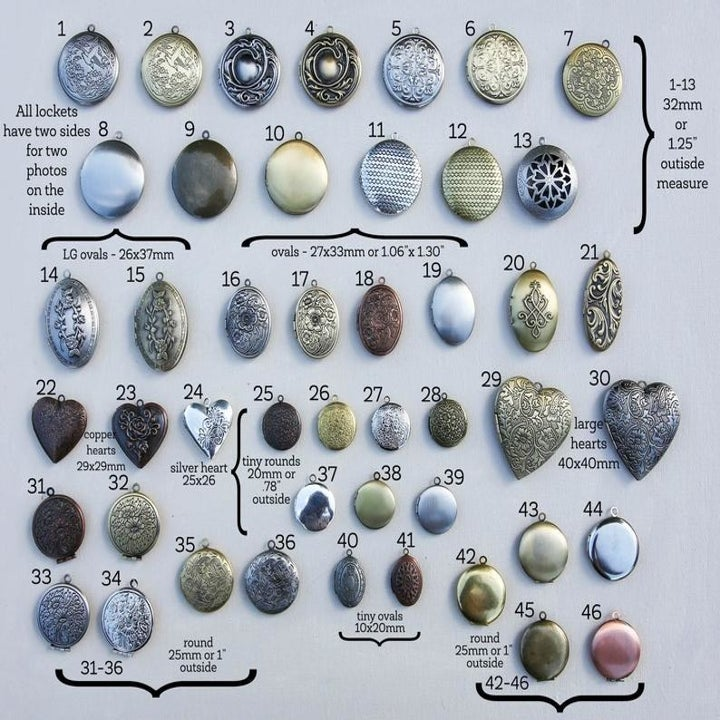 the different locket options