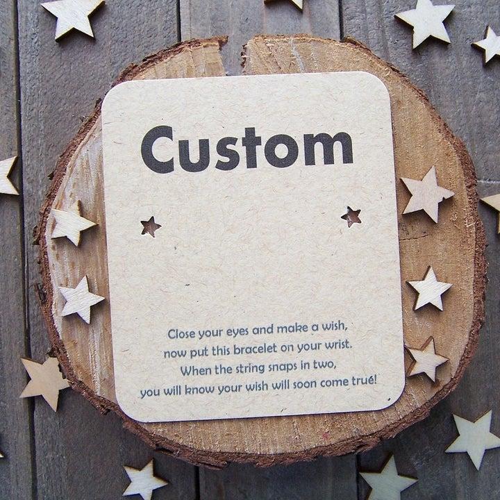 the custom wish bracelet