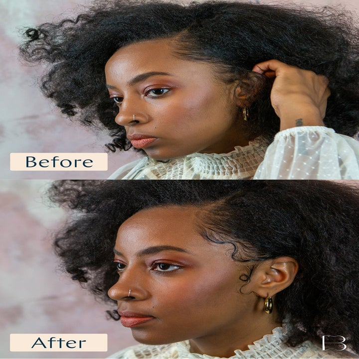 Before and after pics  of edges not styles and then styled after using the tool
