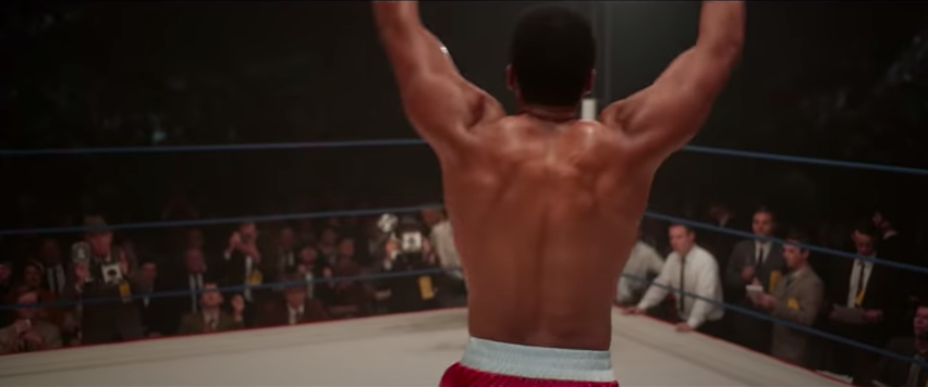 """A screenshot from """"One Night in Miami"""" of Muhammad Ali"""