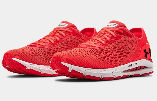 the UA HOVR Sonic 3 Running Shoes in red