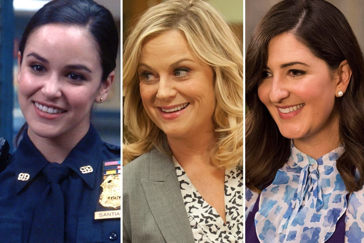 Amy Santiago, Leslie Knope, and Janet