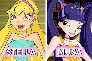 """Side by side of Stella and Musa from """"Winx Club"""""""