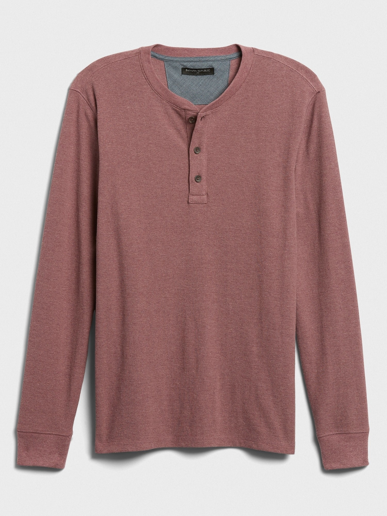The waffle henley in dusty pink