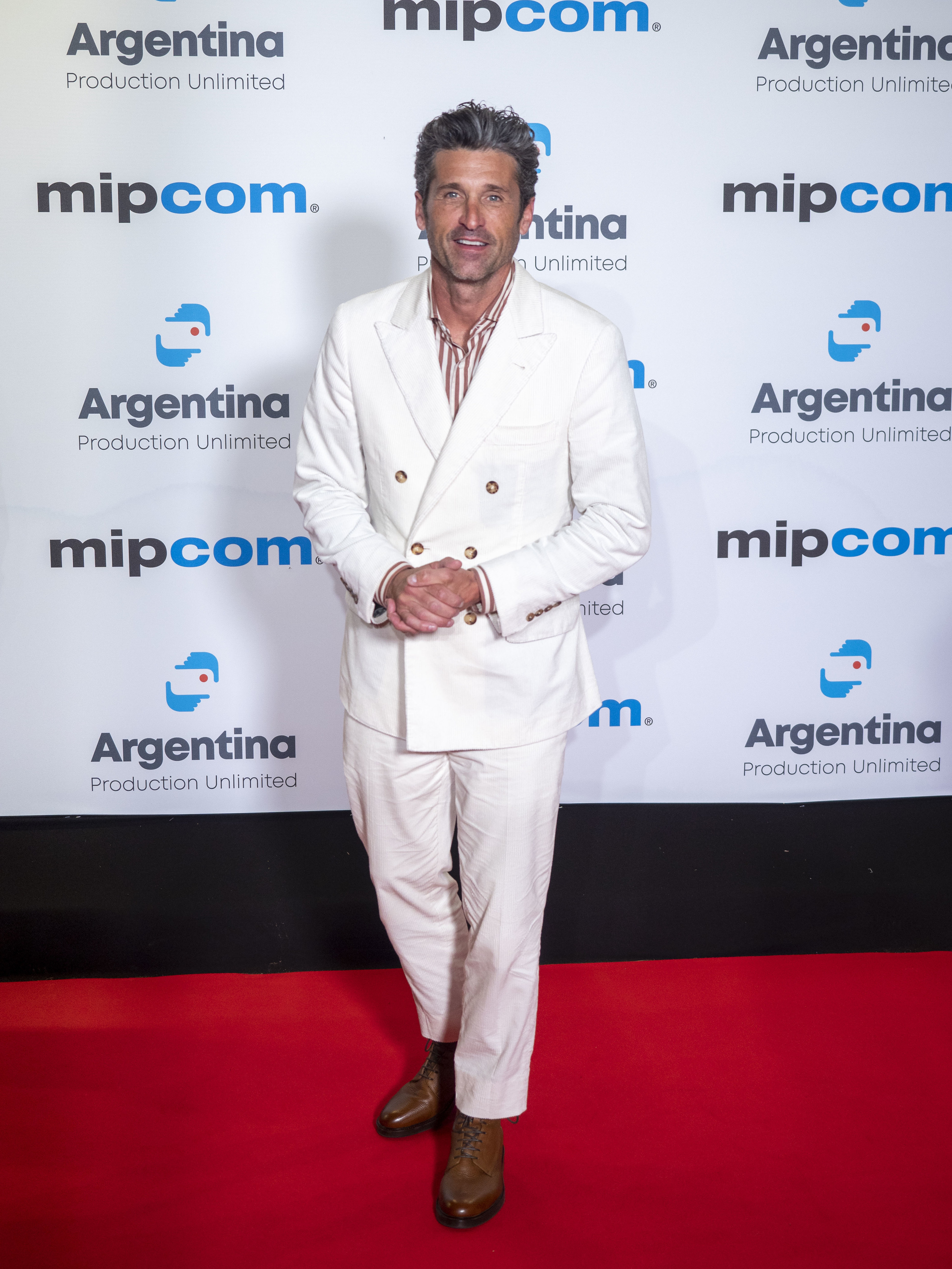 Patrick Dempsey attends the opening ceremony of MIPCOM 2019 in Cannes, France