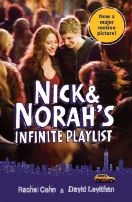 Cover of Nick & Norah's Infinite Playlist by Rachel Cohn & David Levithan featuring a still image of the movie adaptation