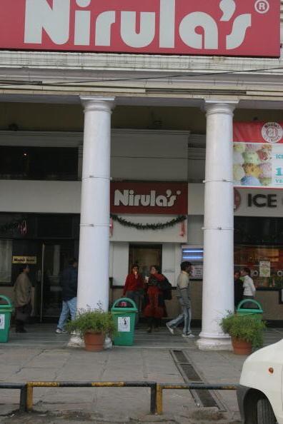 The facade of nirulas in delhi's connaught place
