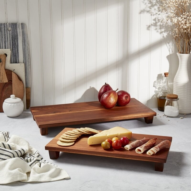 set of two wooden cutting boards