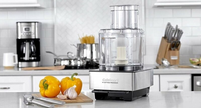 food processor on counter