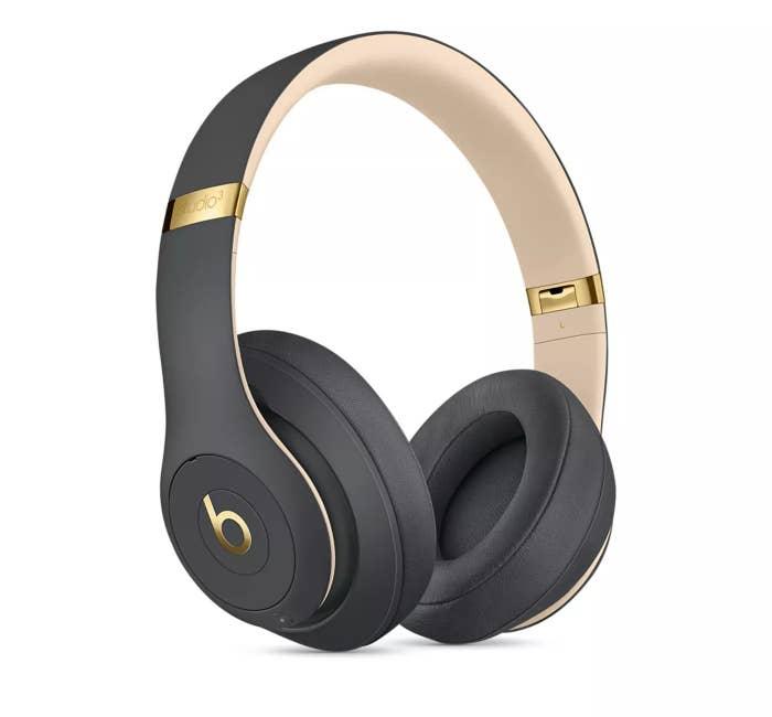 The headphones in gray