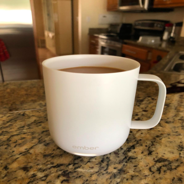 Reviewer photo of Ember mug in white