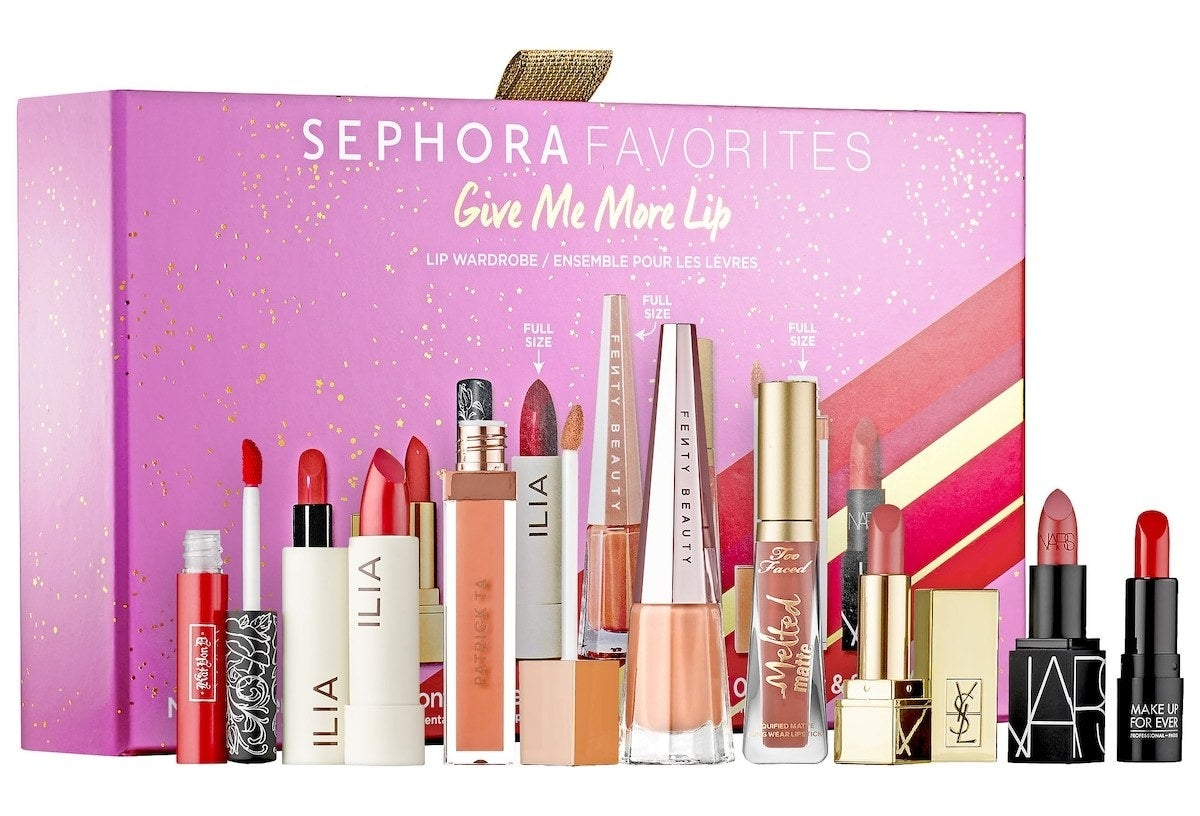 The lipstick set with gift box