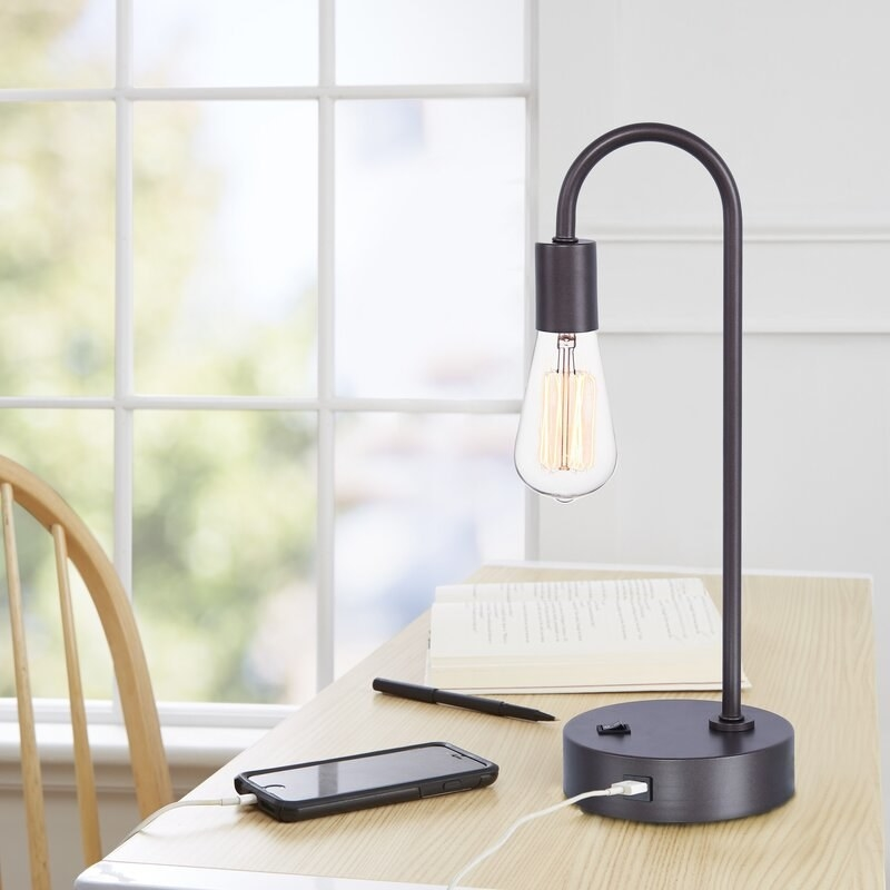 Desk lamp with USB outlet