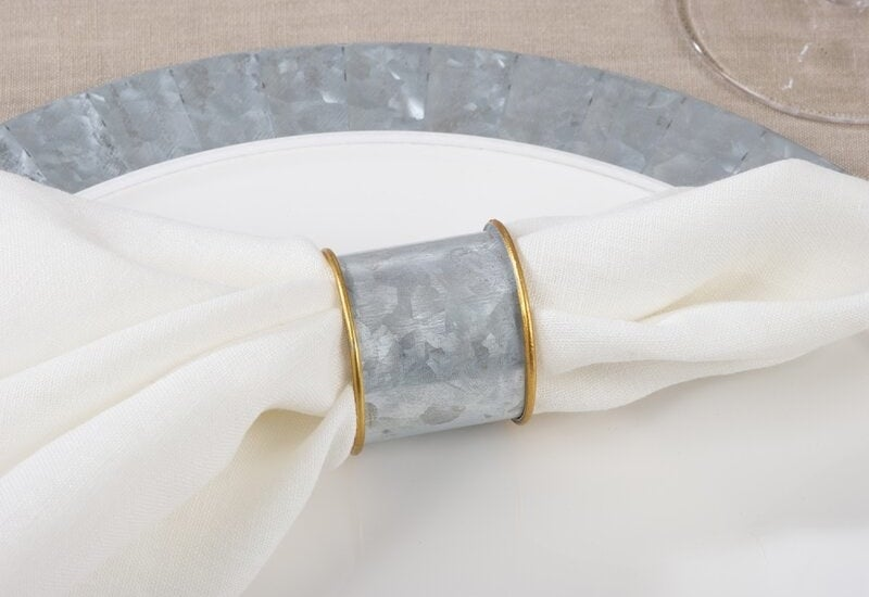 silver and gold napkin rings