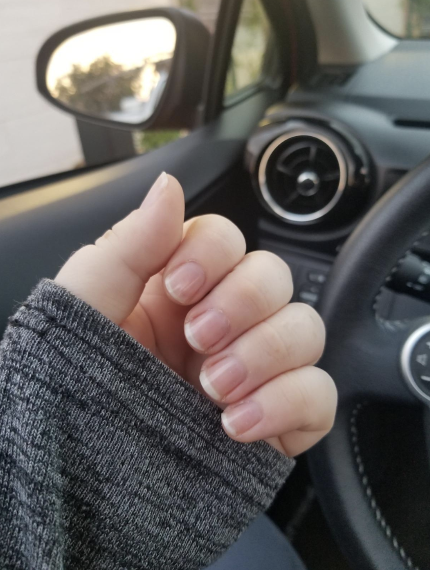 A reviewer who used the product to shine their nails