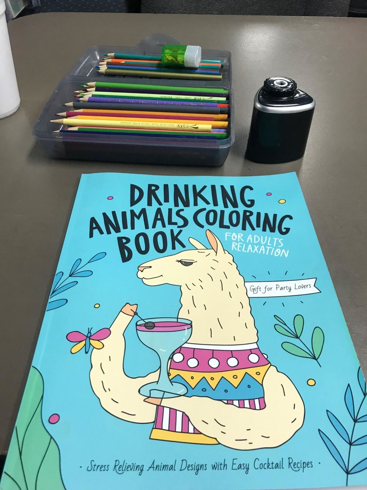 Reviewer image of the Drinking Animals Coloring Book