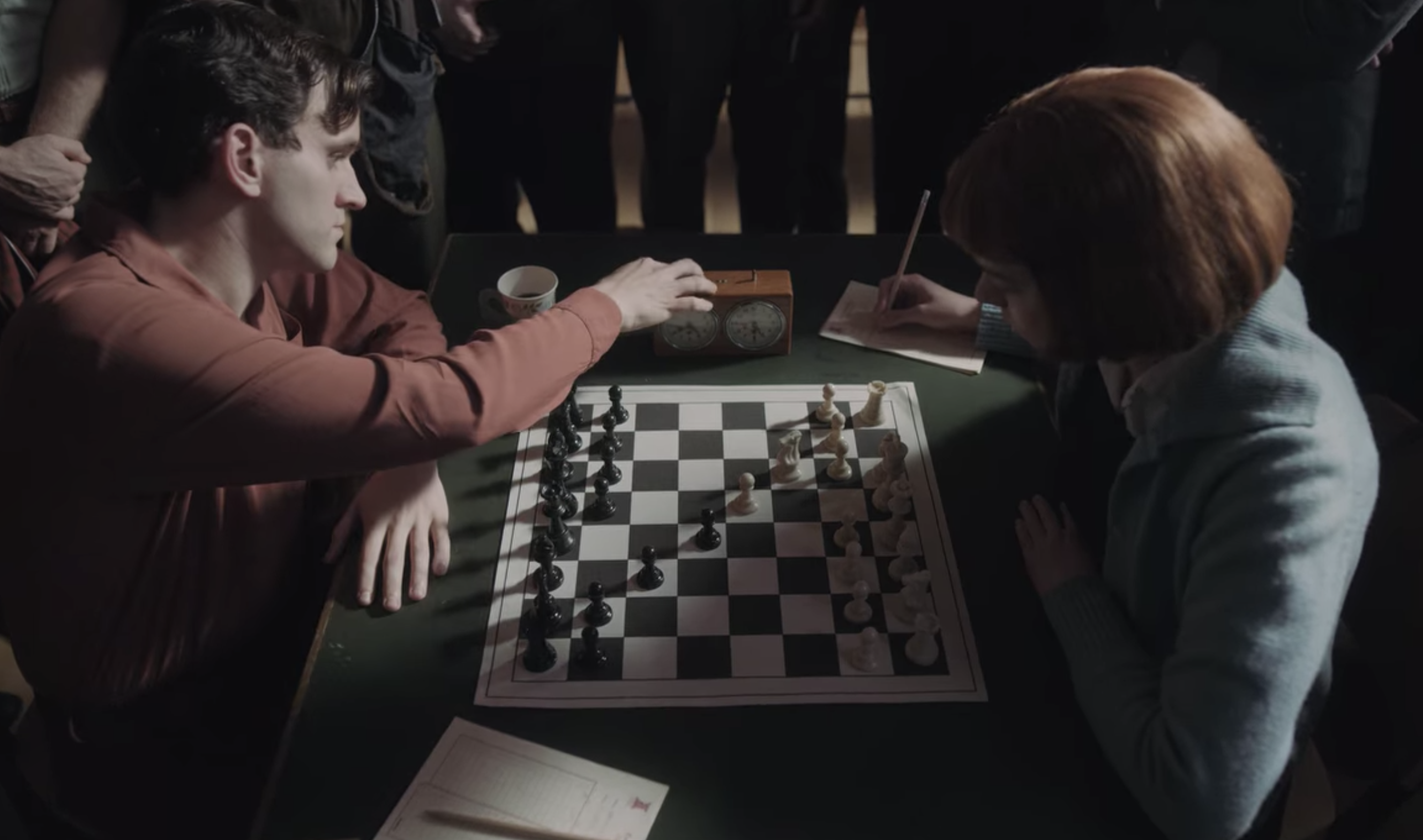 Beth playing a game of chess