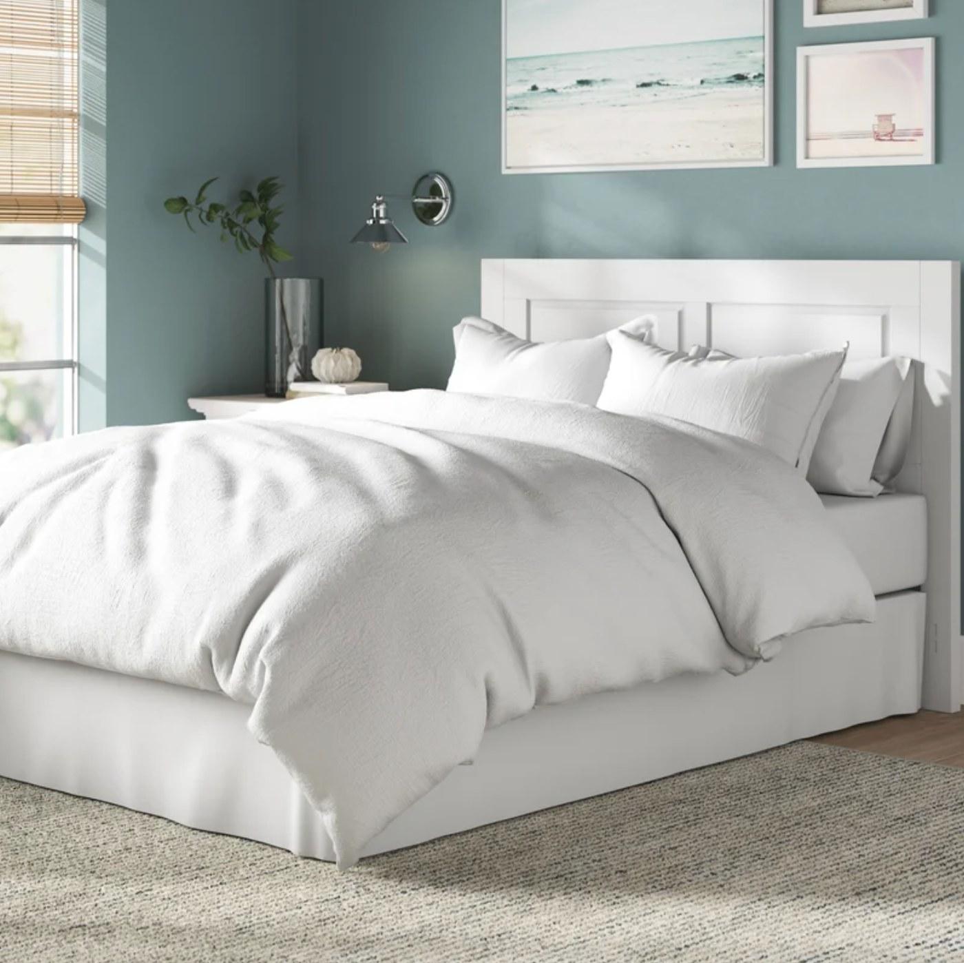 The comforter set in farmhouse white