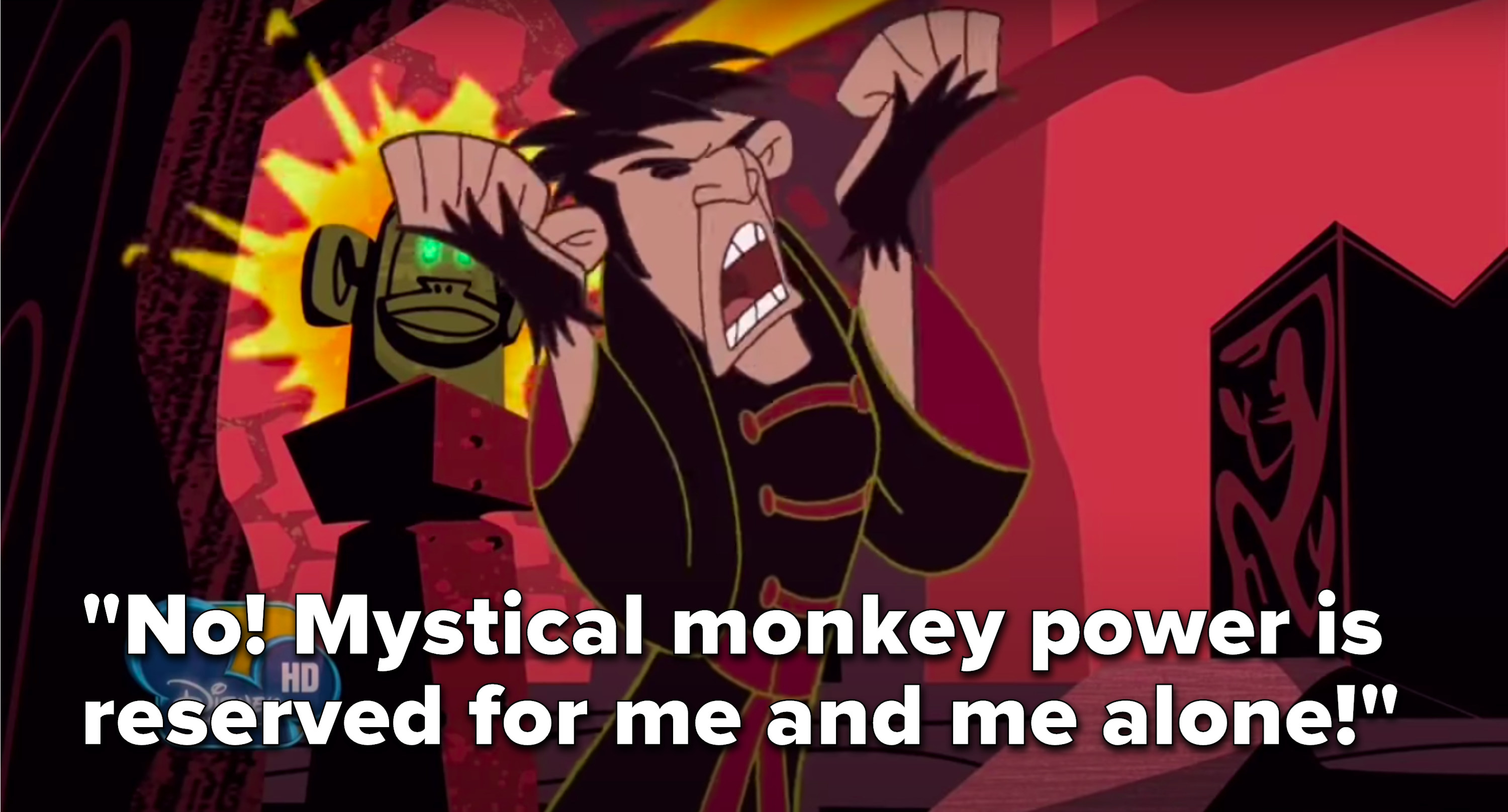 """Monkey Fist says, """"No, mystical monkey power is reserved for me and me alone"""""""