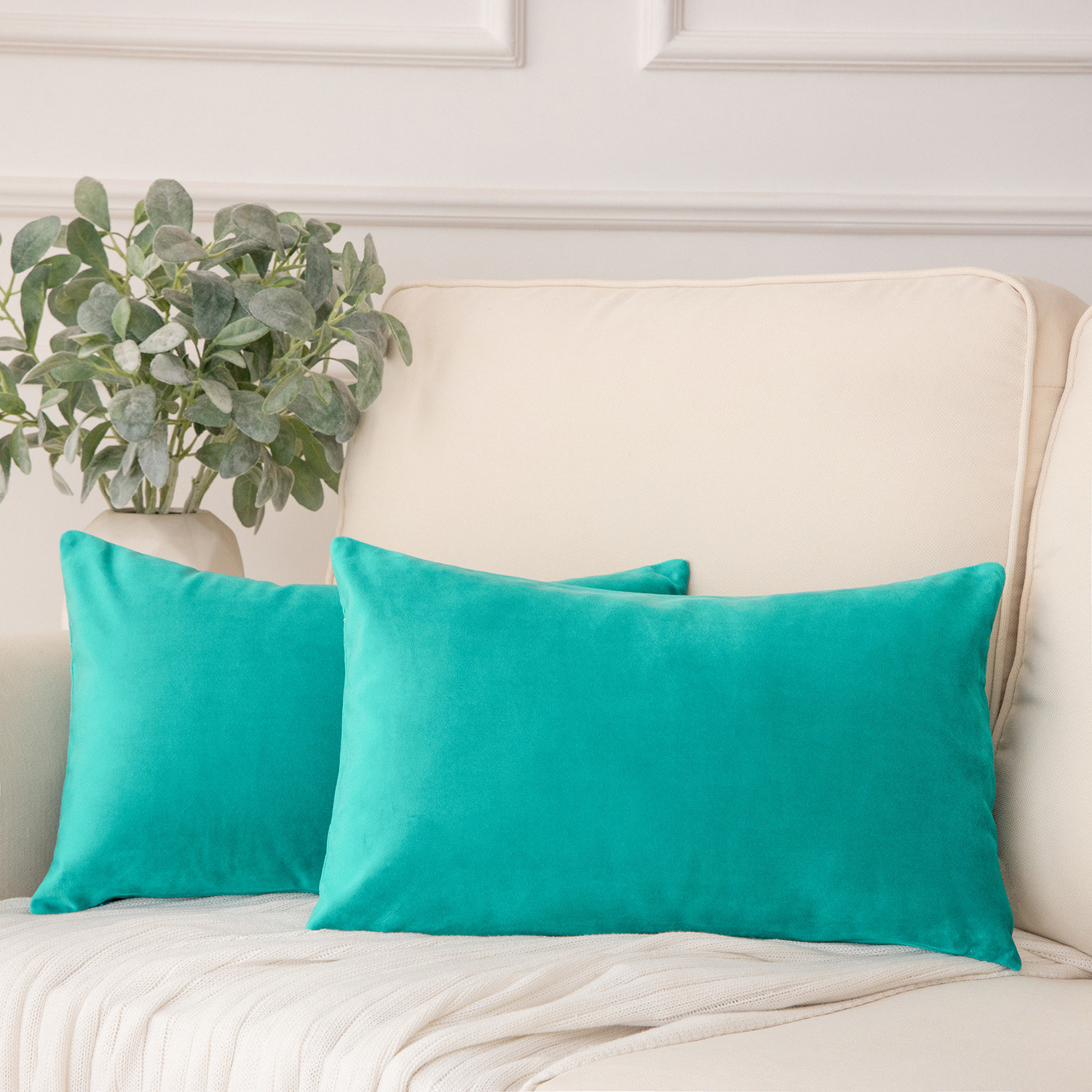 The turquoise pillow
