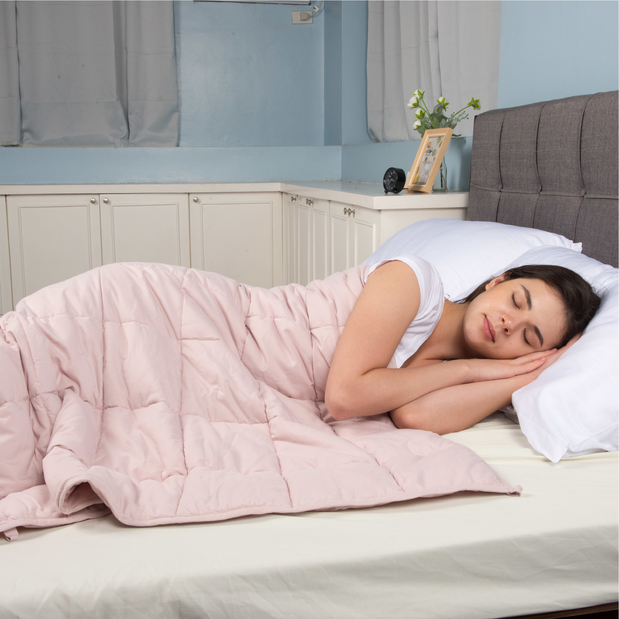 The blush weighted blanket