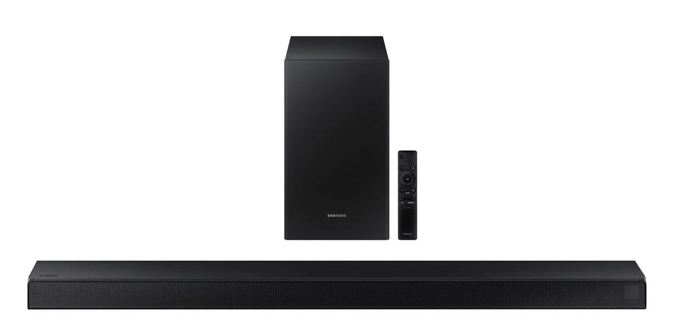 The channelsound bar with wireless subwoofer in black
