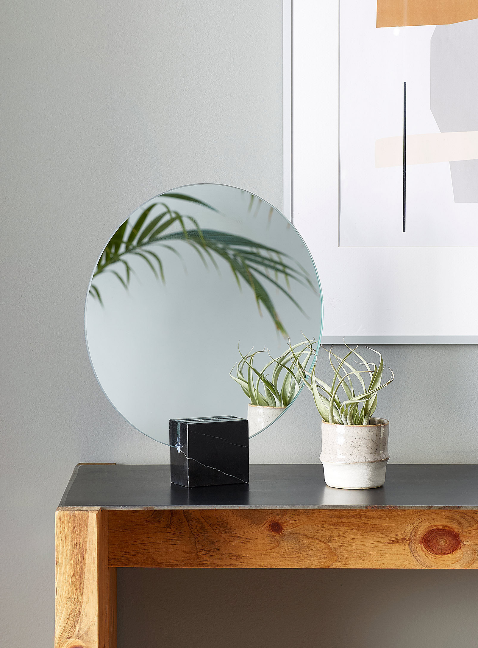 mirror on desk