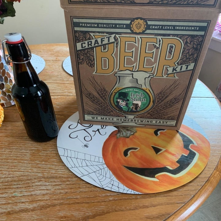 reviewer image of the craft beer kit on a table