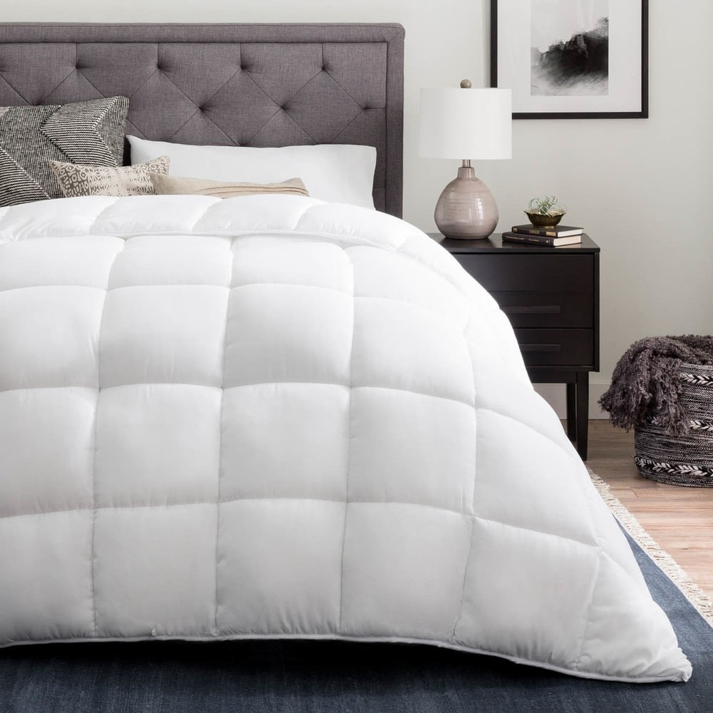 The quilted comforter in white