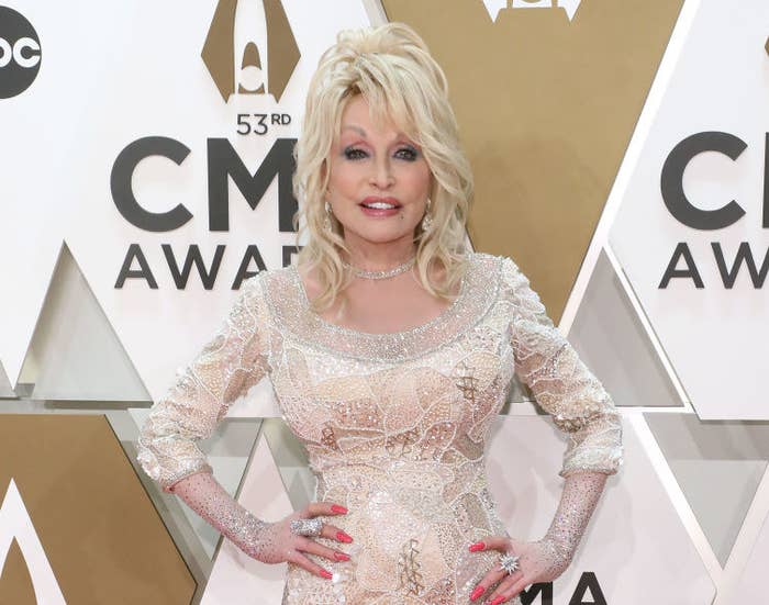 Dolly Parton at the 2019 County Music Awards