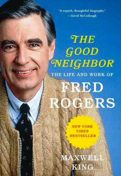 Book cover with photograph of Fred Rogers