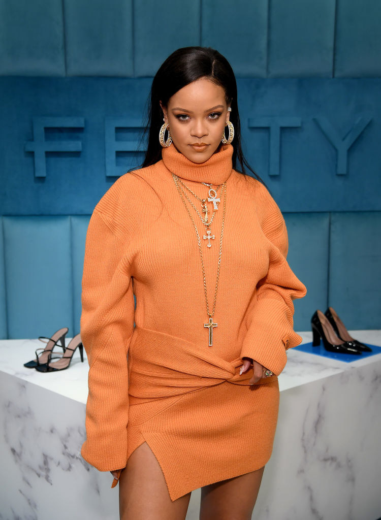 Rihanna at the launch of FENTY in 2020