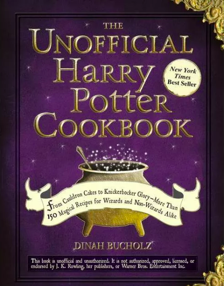 Book cover with cauldron