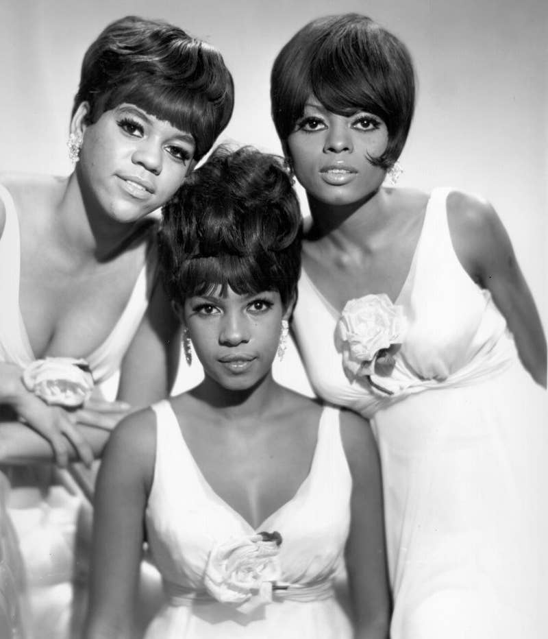 The Supremes posing for promo photos in 1960