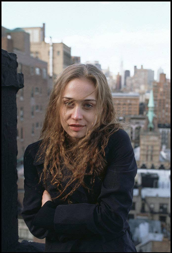 Fiona Apple posing for a portrait in New York City in 1996