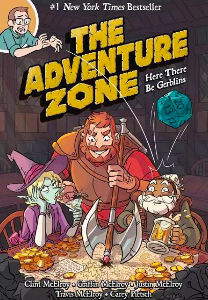 Illustrated cover with an elf, elderly man, and large hunter playing a board game
