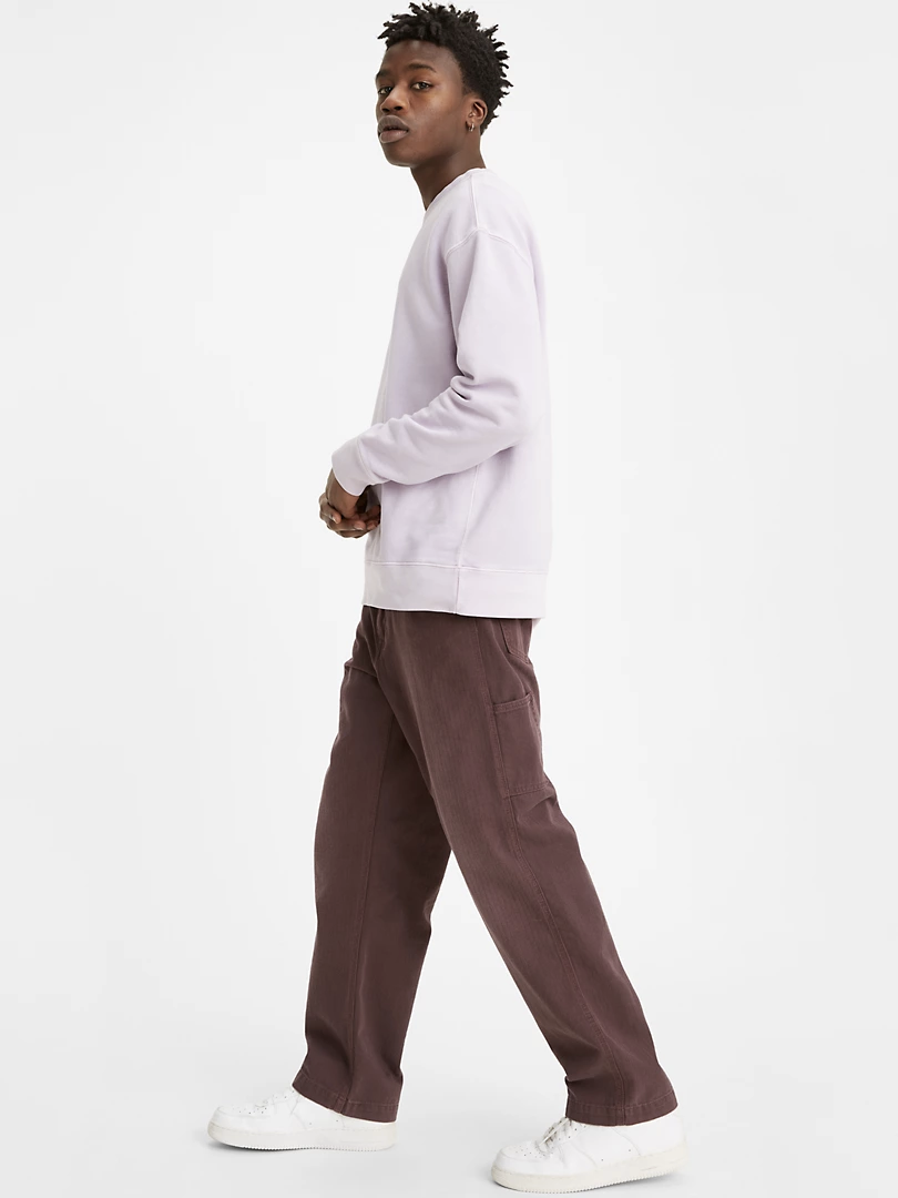 loose mauve jeans with side pockets