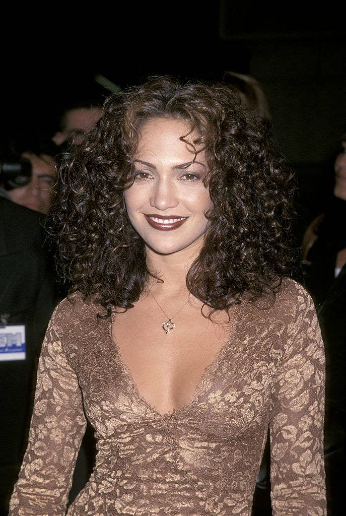 Jennifer Lopez at a movie premiere in the mid-'90s