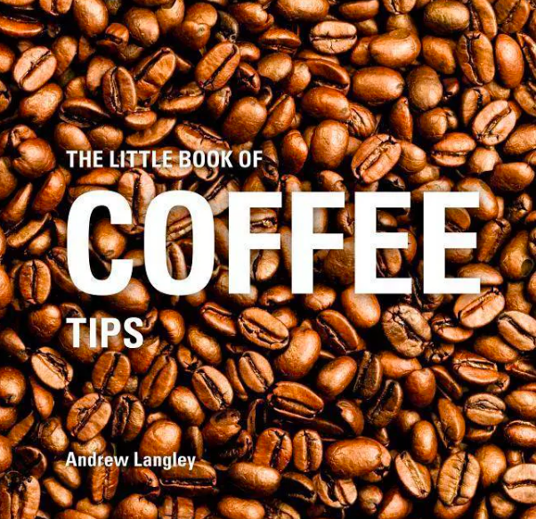 Book cover with photo of coffee beans