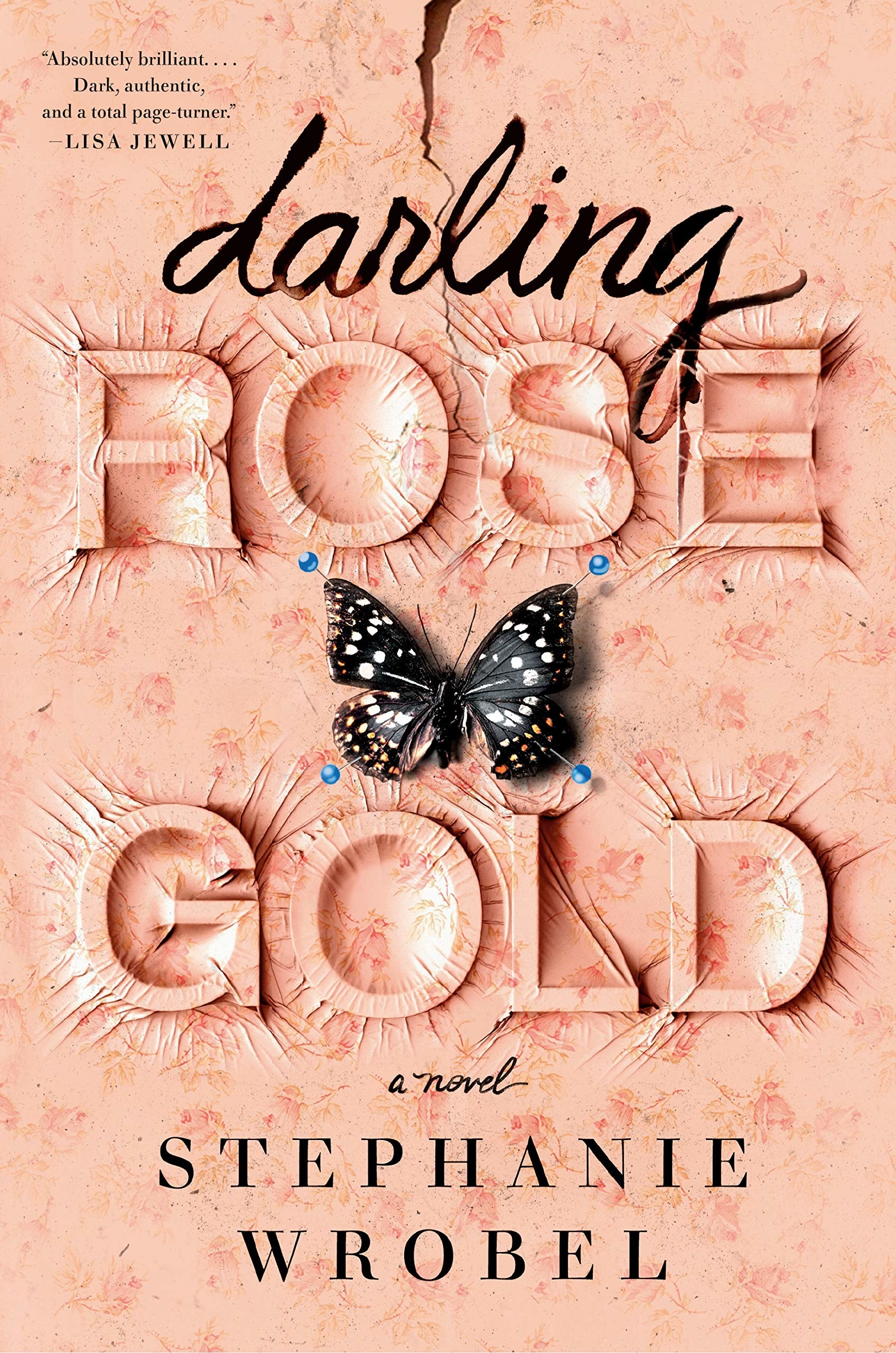 Book Cover with rose gold wallpaper illustration