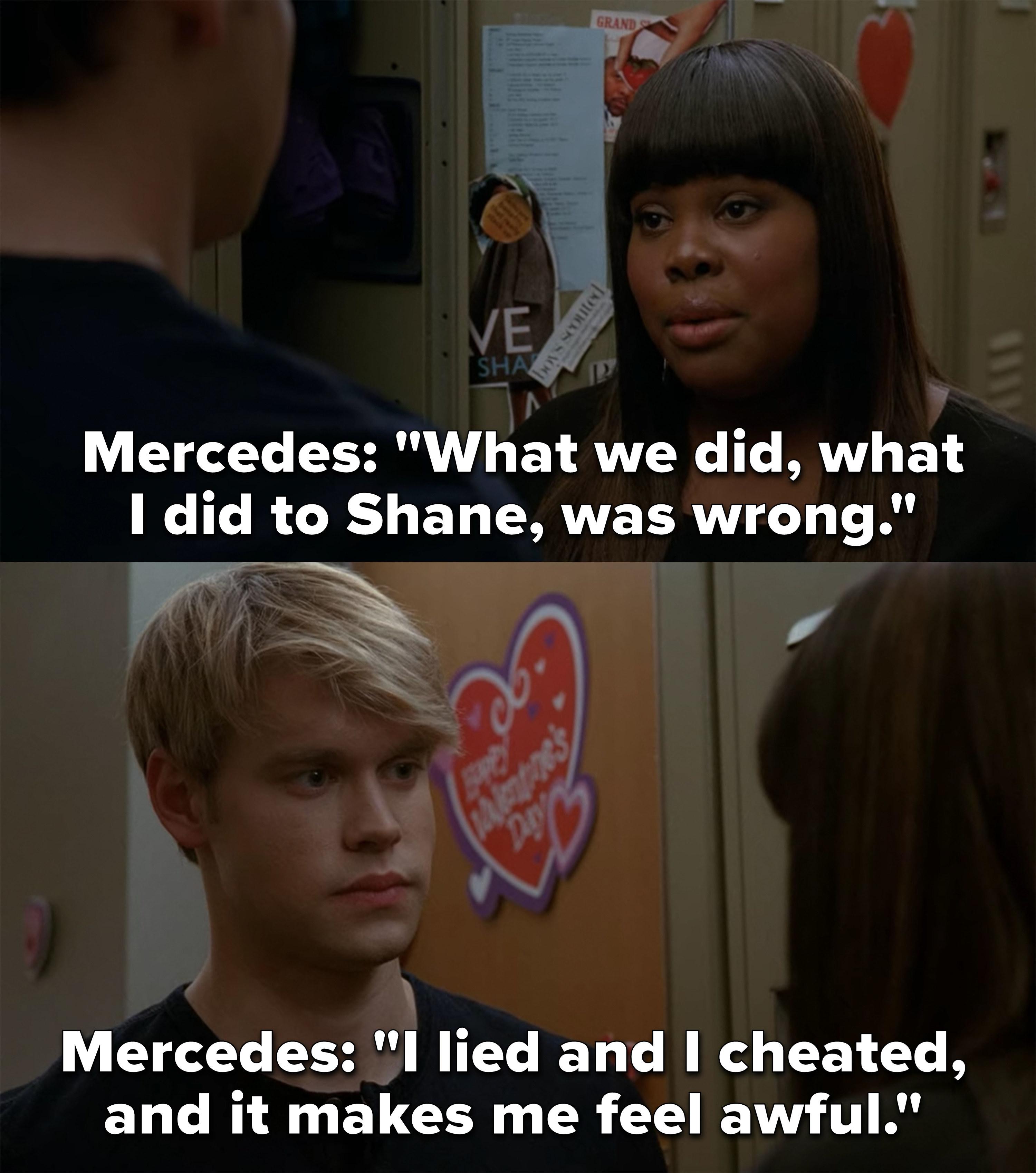Mercedes tells Sam their affair was wrong