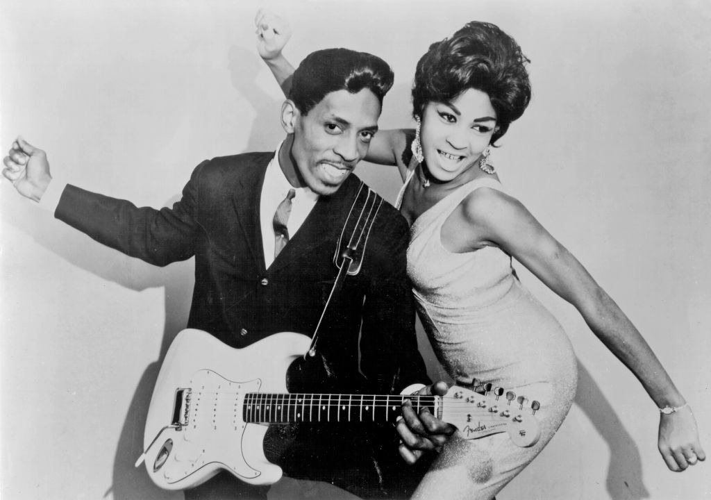Tina Turner posing with Ike Turner for a portrait in 1961