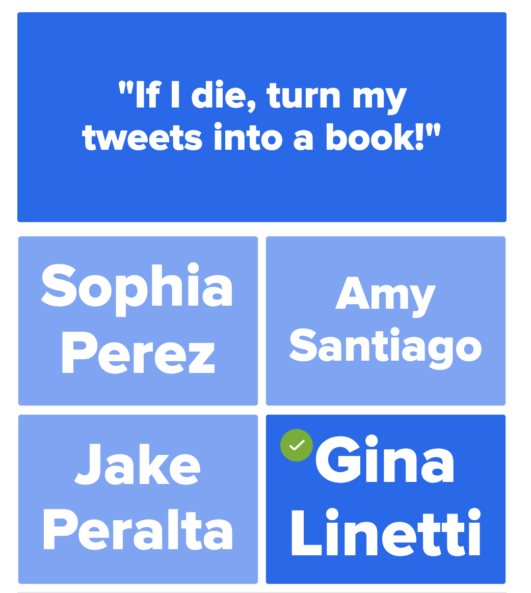 """Who said it? """"If I die, turn my tweets into a book!"""""""