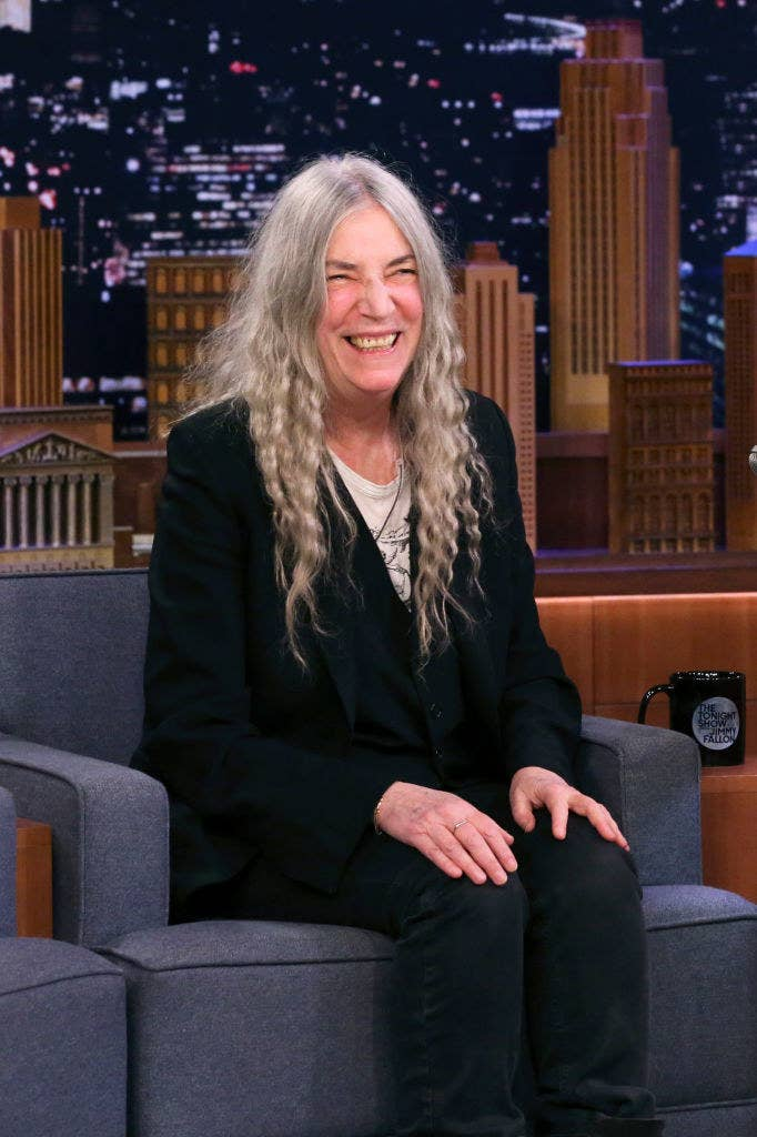 "Patti Smith on ""The Tonight Show Starring Jimmy Fallon"" in January 2020"