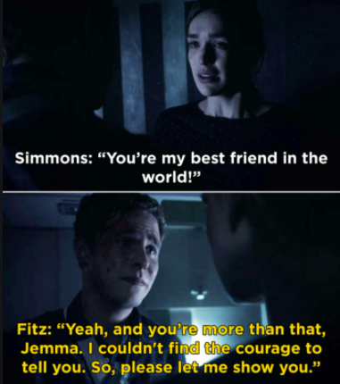 Simmons says Fitz is her best friend in the world, Fitz says she's more than that