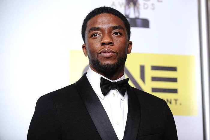 Chadwick Boseman on the red carpet at the NAACP Awards in 2016