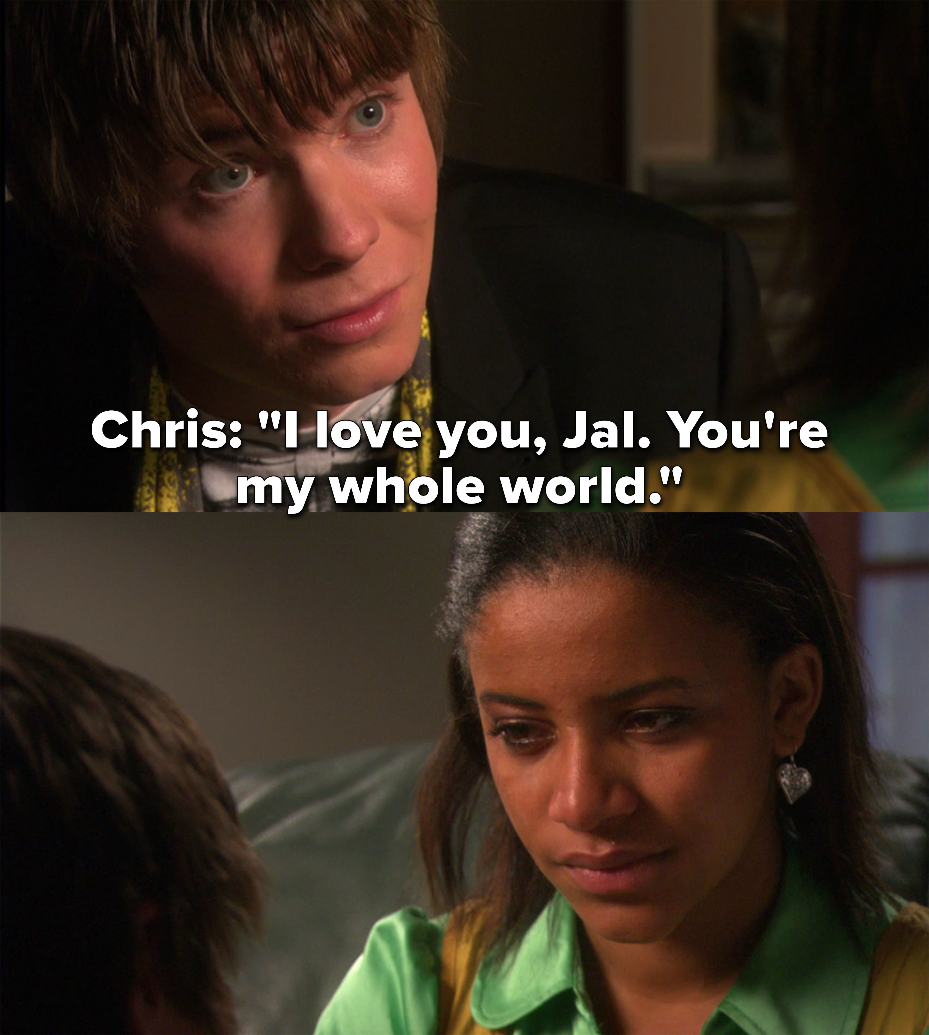 """Chris: """"I love you Jal, you're my whole world"""""""