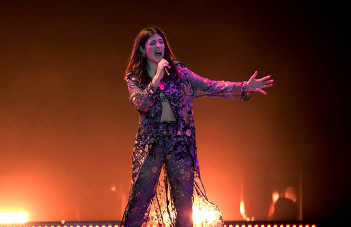Lorde performs onstage at Staples Center on in Los Angeles, California